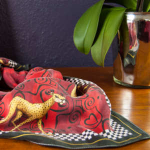 Smiling Cheetah Silketørklæde